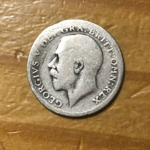 1916 GREAT BRITAIN SILVER 6 PENCE