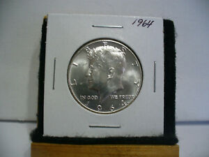 Click now to see the BUY IT NOW Price! 1964   KENNEDY   HALF  DOLLAR  50 CENT PIECE  COIN   64   NICE  GRADE