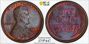 1928 1C LINCOLN CENT PCGS MS64BN 37136447 TONED W/ TRUEVIEW  10G