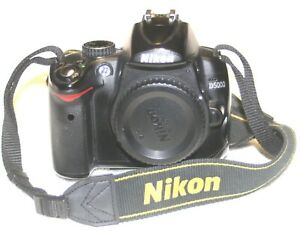 NIKON D D5000 12.3MP DIGITAL SLR CAMERA   BLACK  BODY ONLY
