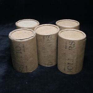 Click now to see the BUY IT NOW Price! 5 X$20 SILVER DOLLAR ROLL  100  MORGAN PEACE DOLLAR MIXED DATE COVERED END COINS