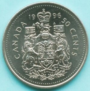 1996 CANADA 50 CENTS COIN