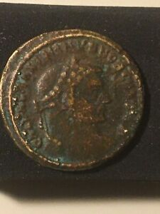 Click now to see the BUY IT NOW Price! BRONZE ROMAN BI NUMMUS. 4TH CENT. MAXIMINUS II  308 313 AD  FOLLIS 9.2G