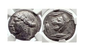 Click now to see the BUY IT NOW Price! LEONTINY SICILY 440 BC SILVER TETRADRACHM NGC CERTIFIED