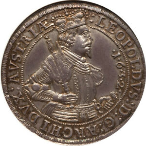 Click now to see the BUY IT NOW Price! AUSTRIA 1632 HALL ARCHDUKE LEOPOLD THALER / TALER NGC MS 64