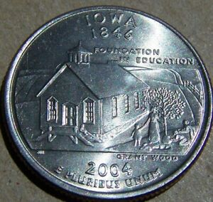 2004 P UNCIRCULATED IOWA STATE QUARTER