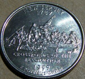 1999 P UNCIRCULATED NEW JERSEY STATE QUARTER