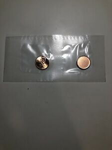 SEALED UNC 2015 D AND BLANK PENNY PLANCHET SET