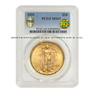 Click now to see the BUY IT NOW Price! KEY DATE 1931 $20 SAINT GAUDENS PCGS MS65 PQ APPROVED GEM GOLD DOUBLE EAGLE