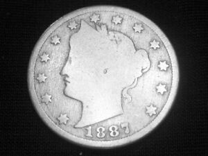 1887 LIBERTY HEAD NICKEL     GOOD