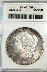 1898 S  MS 63 DMPL U.S. MORGAN SILVER DOLLAR  SEE OTHER MORGAN SILVER DOLLARS