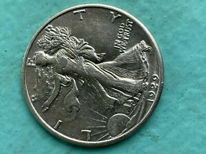 1929 D WALKING LIBERTY HALF  HIGHER GRADE