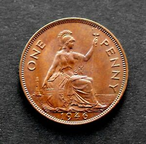 KING GEORGE VI 1946 PENNY IN LOVELY MINT UNCIRCULATED CONDITION