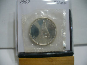 Click now to see the BUY IT NOW Price! 1967 CANADA SILVER HALF DOLLAR TOP GRADE  50 CENT PIECE  67B  PROOF LIKE  SEALED