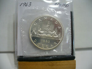 Click now to see the BUY IT NOW Price! 1963  CANADA  SILVER  1$   DOLLAR   HIGH   GRADE    63   PROOF  LIKE    SEALED