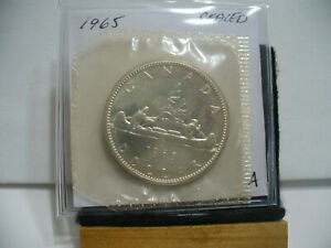 Click now to see the BUY IT NOW Price! 1965  CANADA  SILVER  1$   DOLLAR   HIGH   GRADE    65A   PROOF  LIKE    SEALED