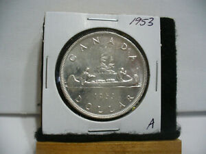 Click now to see the BUY IT NOW Price! 1953  CANADA  SILVER DOLLAR  COIN   NICE GRADE  SEE PHOTOS   53A  NICE GRADE