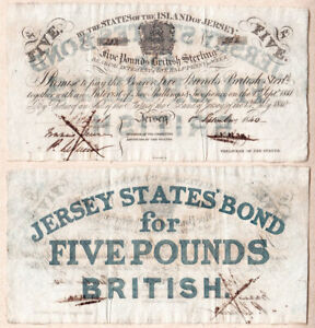 1840 41 5 STATES OF THE ISLAND OF JERSEY ALMOST EF/XF CONDITION
