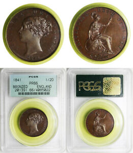 Click now to see the BUY IT NOW Price! EXQUISITE QUEEN VICTORIA BRONZED PROOF 1/2 PENNY 1841 PR66 BROWN PCGS CERTIFIED