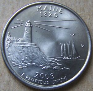 2003 P UNCIRCULATED MAINE STATE QUARTER