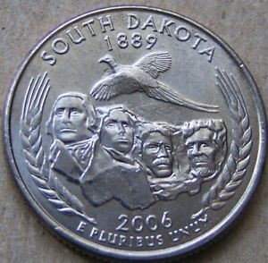 2006 P UNCIRCULATED SOUTH DAKOTA STATE QUARTER