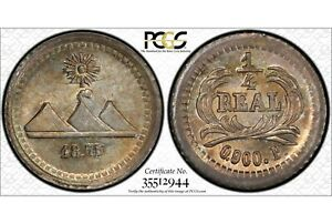 GUATEMALA  1/4 REAL 1875 P   PCGS MS 66