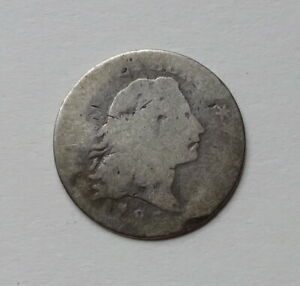1795 FLOWING HAIR HALF DIME   STRONG DATE