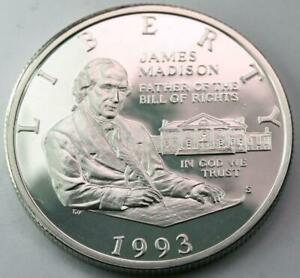 1993 W JAMES MADISON BILL OF RIGHTS 90  SILVER PROOF HALF DOLLAR BASIC FREEDOMS