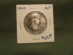 1949 AU  FRANKLIN SILVER HALF DOLLAR PLEASE READ ITEM DESCRIPTION