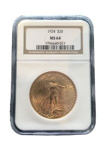 1924 $20 ST GAUDENS / GOLD DOUBLE EAGLE   NGC   BEAUTIFUL COIN