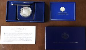 1987 S UNITED STATES CONSTITUTION PROOF SILVER DOLLAR WITH BOX/COA   US COINS