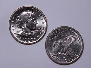 1980 D SUSAN B ANTHONY DOLLAR   UNCIRCULATED SBA