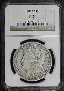 1895 S MORGAN DOLLAR NGC F 15