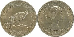 NEW ZEALAND 6 PENCE 1962 UNCIRCULATED OR BETTER   LIGHTLY TONED