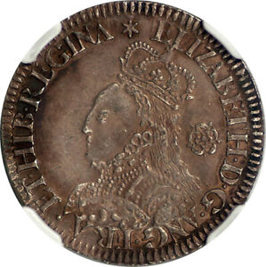 Click now to see the BUY IT NOW Price! GREAT BRITAIN 1562 ELIZABETH I MILLED SILVER SIXPENCE NGC UNCIRCULATED DETAILS
