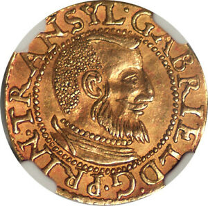 Click now to see the BUY IT NOW Price! TRANSYLVANIA 1613 GABRIEL BATHOLI GOLD DUCAT NGC AU 55