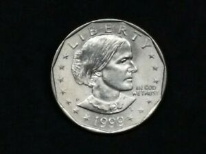 1999 P $1 SUSAN B ANTHONY DOLLAR COIN   LAST YEAR MINTED