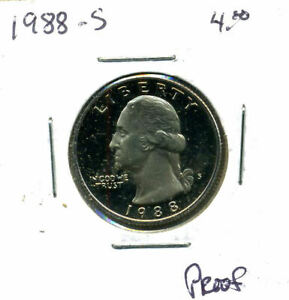 1988 S PROOF CH BU WASHINGTON QUARTER U.S BRILLIANT UNCIRCULATED MS COIN 4444