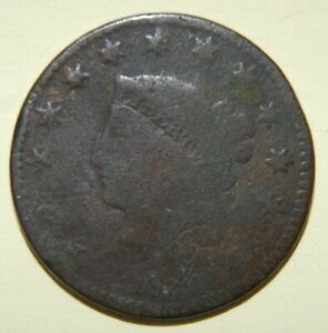1830 CORONET OR MATRON HEAD LARGE CENT
