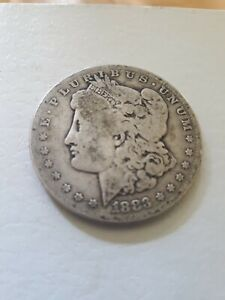1883 P SILVER MORGAN DOLLAR $1 US COIN  OVER 136 YEARS OLD.
