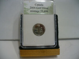 2004  CANADA 10 CENT COIN  DIME  NICE  GRADE  SEALED    GOLF CHAMPIONSHIP