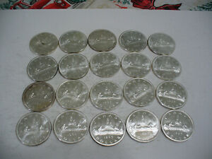 Click now to see the BUY IT NOW Price! LOT OF  20 1965  CANADA  SILVER  1$  ONE DOLLAR  COINS  SILVER  SEE PHOTOS