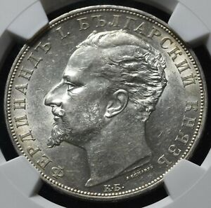 Click now to see the BUY IT NOW Price! BULGARIA 5 LEV 1894 MS61 NGC