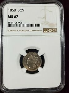 Click now to see the BUY IT NOW Price! 1868 3 CENT NICKEL NGC MS67