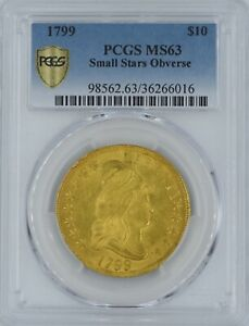Click now to see the BUY IT NOW Price! 1799 $10 GOLD MS 63 PCGS SMALL STARS