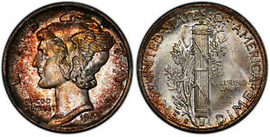 Click now to see the BUY IT NOW Price! 1942 S PCGS MS67 FB FULL SPLIT BANDS MERCURY DIME