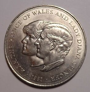 1981 GREAT BRITAIN CROWN COIN LADY DIANA COMMEMORATIVE UK UNC