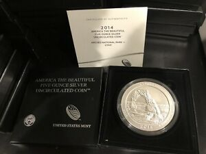Click now to see the BUY IT NOW Price! 15 COUNT INVESTMENT LOT   2014 P 5 OZ SILVER ATB ARCHES NATIONAL PARK BOX & COA