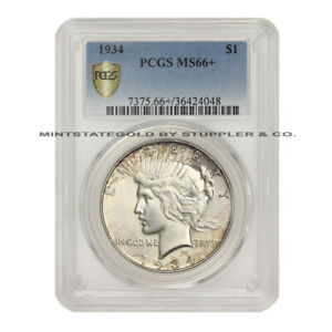 Click now to see the BUY IT NOW Price! 1934 $1 PEACE SILVER DOLLAR PCGS MS66  GEM GRADED PHILADELPHIA MINTED COIN