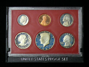 Click now to see the BUY IT NOW Price! ORIGINAL 1981 T 2 US MINT ISSUED PROOF SET   5C 25C 50C $1 TYPE 2 COINS